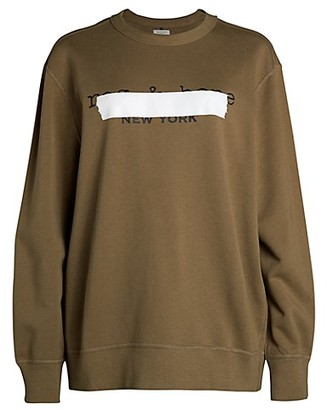Rag & Bone Tape Oversized Logo Sweatshirt