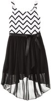 Amy Byer Big Girls' Knit To Woven High Low Dress