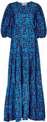 Simona printed cotton maxi dress