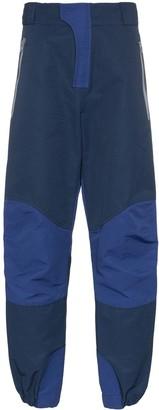 Boramy Viguier contrasting panels wide-leg trousers