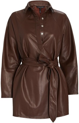 Marissa Webb Madi Mini Leather Tunic Dress