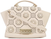 Zac Posen floral embellished tote - women - Calf Leather/metal - One Size