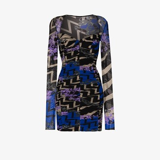 Emilio Pucci Lupa print mini dress