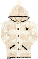 Scotch R'Belle MIXED-STITCH HOODED CARDIGAN