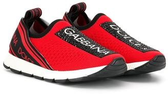Dolce & Gabbana Kids Slip-On Logo Sneakers