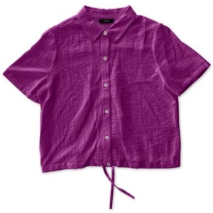Alfani Drawstring-Hem Shirt, Created for Macy's