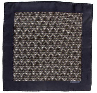 Hermes Geometric Print Pocket Square