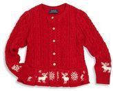 Ralph Lauren Little Girl's Knit Peplum Cardigan