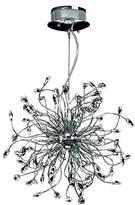 Design by Grönlund 9090/27 Foggia Crystal Chandelier, Chrome, G4
