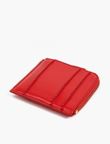 Comme Des Garcons Wallet Red Raised Spike Leather Zip Coin Wallet
