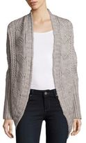 Saks Fifth Avenue Cable Knit Open Front Cardigan