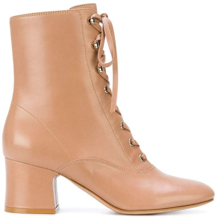 lace-up ankle boots - Nude & Neutrals Gianvito Rossi 4GbeVf8Jy