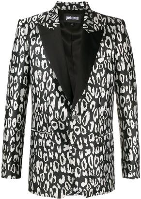 Just Cavalli Leopard-Print Tuxedo Jacket