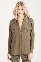 True Religion Solid Military Womens Shirt