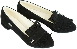 ZAPATO Women's Loafers black - Black Smooth Fringe Leather Loafer - Women