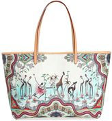 Etro Safari Printed Coated Canvas Tote Bag