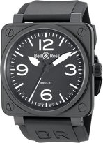 Bell & Ross Men's BR01-92CARBON Aviation Rubber Strap Dial Watch