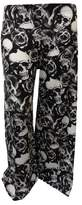 Xclusive Collection Womens Plus Size Leopard Skull Cross Printed Palazzo Trouser Wide Leg Pants (16/18, )