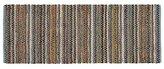 Crate & Barrel Pinstripe 2.5'x6' Aqua Rag Rug