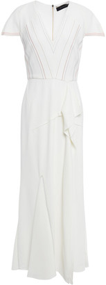 Roland Mouret Bates Embroidered Stretch-crepe Midi Dress