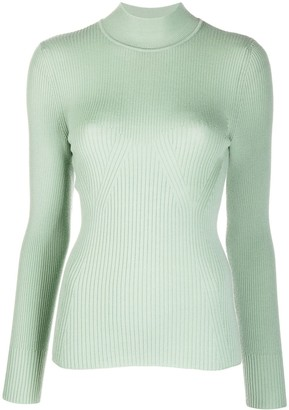 Alberta Ferretti Ribbed Knit Jumper
