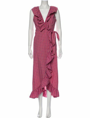 MISA Printed Long Dress w/ Tags Red Printed Long Dress w/ Tags