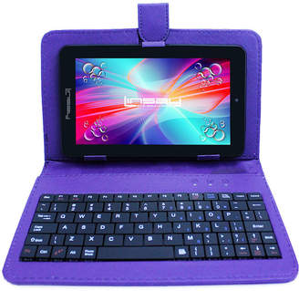 LINSAY 7 HD QUAD CORE Android 6.0 Tablet 8GB DUAL CAM Bundle with Purple Leather Keyboard Case