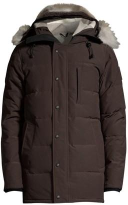 Canada Goose Black Label Carson Coyote-Fur Down Jacket