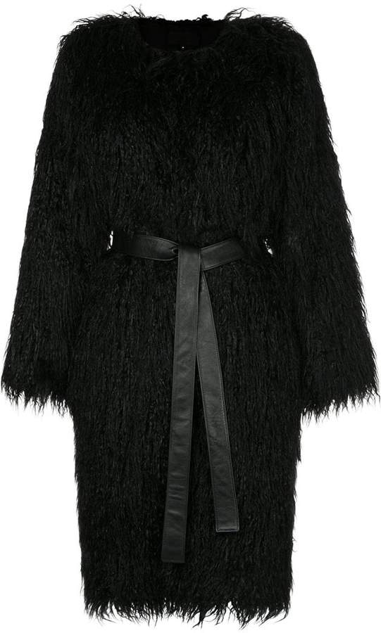 Nili Lotan faux fur shaggy coat