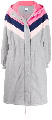Sjyp Striped Fleece Coat