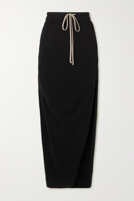 Rick Owens Gonna Dirt Cotton-jersey Maxi Skirt - Black