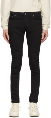 Nudie Jeans Black Skinny Lin Jeans