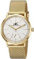 Adee Kaye Men's AK9044N-MG Vintage Slim Analog Display Mechanical Hand Wind Gold Watch