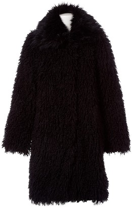 Lanvin Black Faux fur Coat for Women