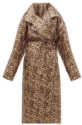 Norma Kamali Sleeping Bag Leopard-print Coat - Leopard