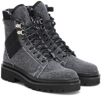 Balmain Jared denim ankle boots