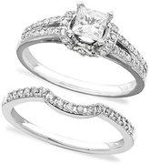 Engagement Ring and Wedding Band, 14k White Gold Diamond Bridal Set (3/4 ct. t.w.)