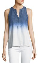 Soft Joie Carley B Ombre Split-Neck Tank Top