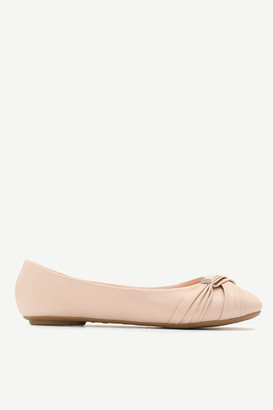 Ardene Faux Leather Flats with Faux Gem Detail