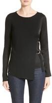 Armani Collezioni Women's Armani Jeans D-Ring Wool Blend Sweater
