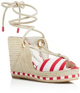 Salvatore Ferragamo Espadrille Platform Wedge Sandals
