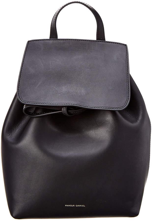 Mansur Gavriel Mini Leather Backpack