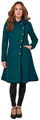 Joe Browns Mid-Length Flared Coat with Button Fastening and Pockets