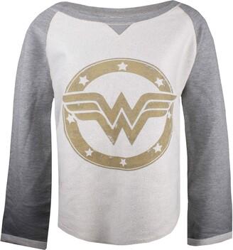 Dc Comics Women's Wonderwoman Gold Logo Sweatshirt