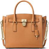 MICHAEL Michael Kors Hamilton Large East-West Leather Satchel Bag