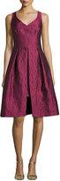 Trina Turk Sleeveless Pleated Floral Jacquard Dress, Pink