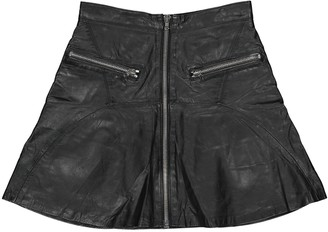 The Kooples Black Leather Skirts