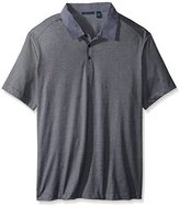 Perry Ellis Men's Big and Tall Fine Stripe Polo with Oxford Collar