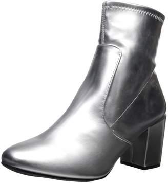Rampage Women's Itsie Block Heel Fashion Stretch Ankle Dress Bootie Boot