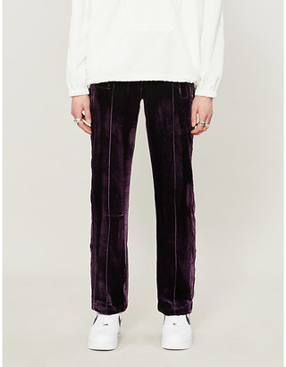 Paradoxe Relaxed-fit tapered velvet jogging bottoms